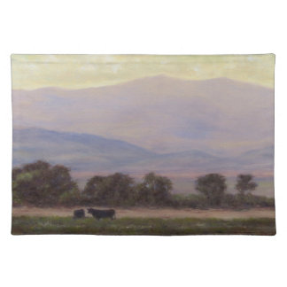 Purple & Yellow Mountains 1 Sided Cotton Placemat
