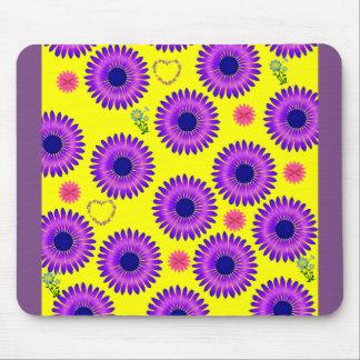 purple yellow mouse pad