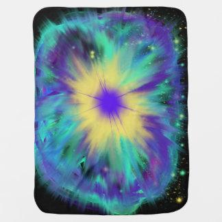 Purple Yellow Space Starburst Baby Indie Art Baby Blanket