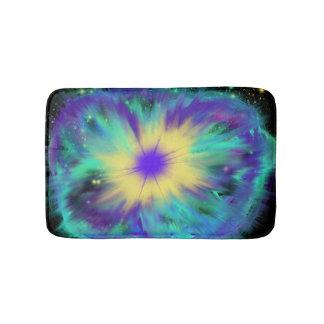 Purple Yellow Space Starburst Indie Art Bath Mat