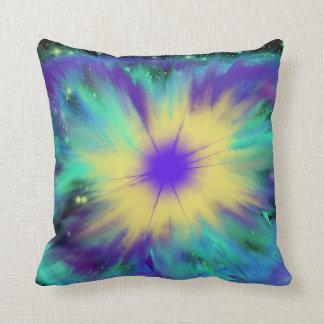 Purple Yellow Space Starburst Indie Art Cushion