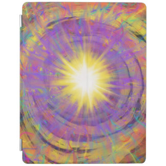 Purple Yellow Star Abstract Art Painting Design iPad Cover
