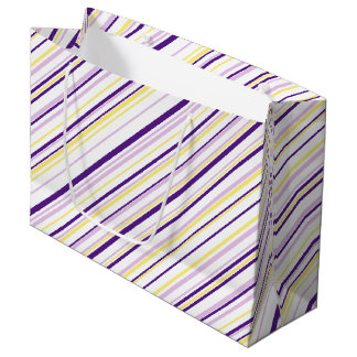 Purple & Yellow Stripe Gift Bag