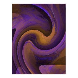 Purple Yellow Swirl Postcard