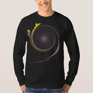 Purple Yellow Swirl Retro Painting Abstract Art T-Shirt