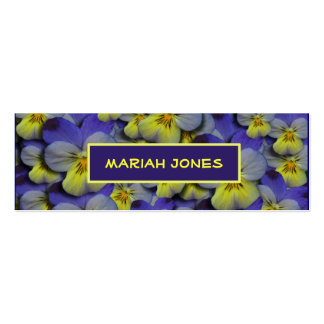 Purple & Yellow Viola Profile Card Pack Of Skinny Business Cards