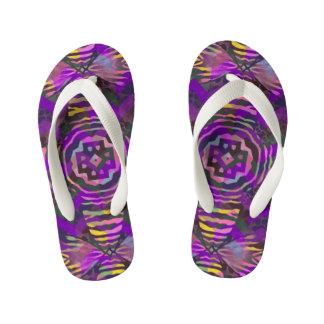 Purple Yellow Zebra Abstract Pattern Thongs