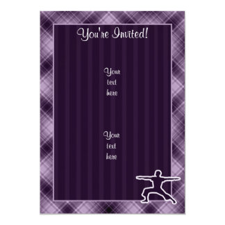 Purple Yoga 13 Cm X 18 Cm Invitation Card