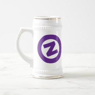 Purple Z on white stien Beer Steins