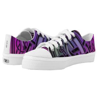 Purple Z Pattern Low Top Canvas Shoes