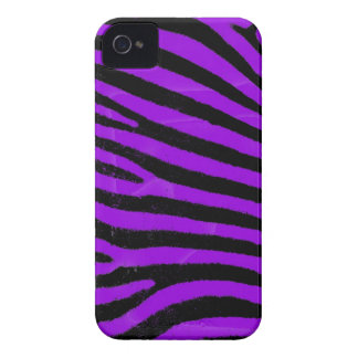 Purple Zebra  Barely There™ iPhone 4 Case