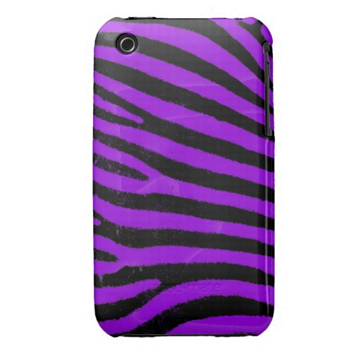 Purple Zebra iPhone 3G/3GS Case-Mate Barely There™ iPhone 3 Case