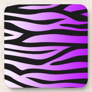 Purple Zebra Pattern Gradient Coaster