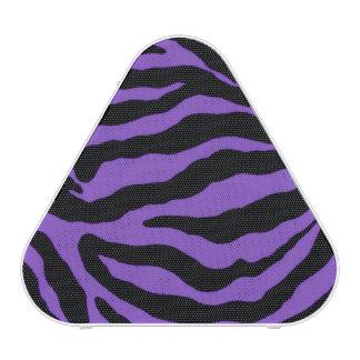 Purple Zebra Stripe Animal Print Bluetooth Speaker