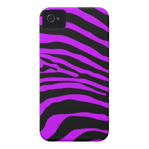 Purple Zebra Stripe Blackberry Phone Case Blackberry Cases