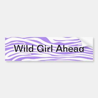 Purple Zebra stripe pattern Car Bumper Sticker