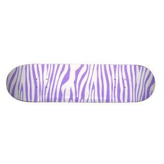 Purple Zebra stripe pattern Skate Deck