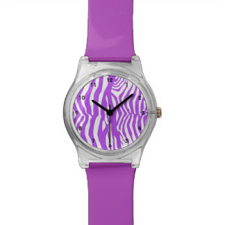 Purple Zebra Stripe Watch