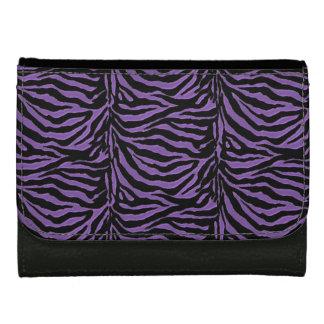 Purple Zebra Striped  Wallet