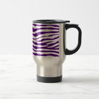 Purple Zebra Stripes Travel Mug