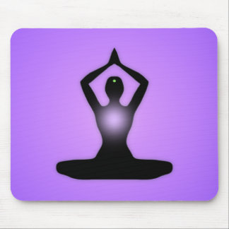 Purple Zen Meditation Sunburst Mouse Pad