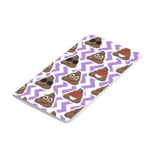 Purple Zig Zagged Poop Emoji Pattern Journal