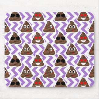Purple Zig Zagged Poop Emoji Pattern Mouse Pad