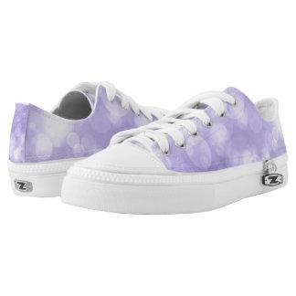Purple Zipz Low Top Shoes