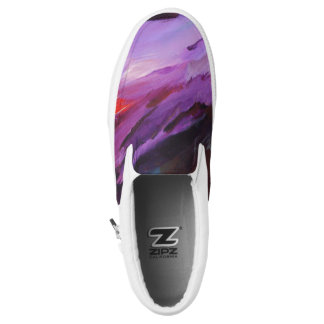 Purple Zipz Slip On Shoes, US Men 4 / US Women 6 Printed Shoes