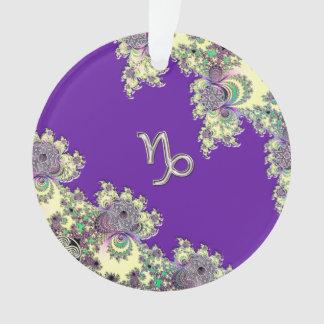 Purple Zodiac Sign Capricorn Fractal Design