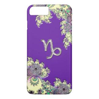 Purple Zodiac Sign Capricorn Fractal Design iPhone 7 Plus Case