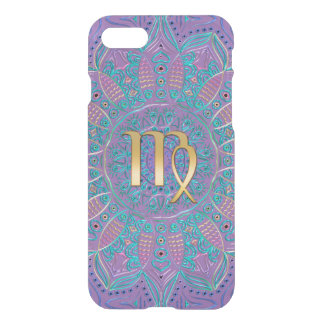 Purple Zodiac Sign Virgo Mandala iPhone 7 Case