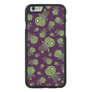 Purple zombies carved® maple iPhone 6 case