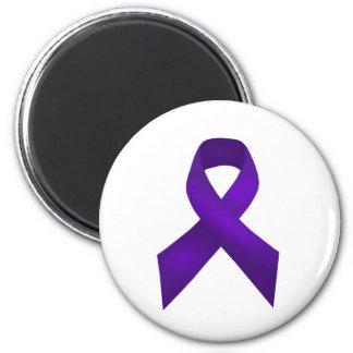 PurpleAwarenessRibbon jpg Fridge Magnets