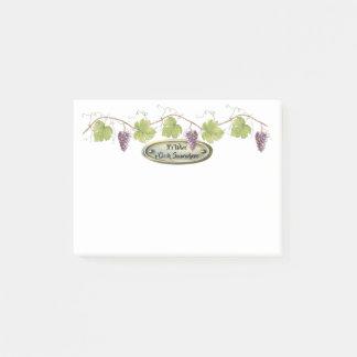 PurpleGrape Clusters Grape Leaves - Wine o'Clock | Post-it Notes
