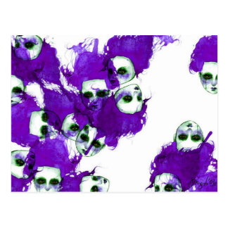 Purpleheads Watercolor Painting Postcard