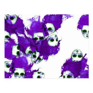 Purpleheads Watercolor Painting Postcard