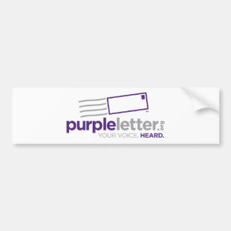 PurpleLetter_Logo+Tag Car Bumper Sticker
