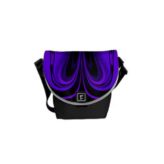 Purples and Black Design by Trevor Star Messenger Bags