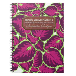 Purples Coleus Decorative Modern Notebook