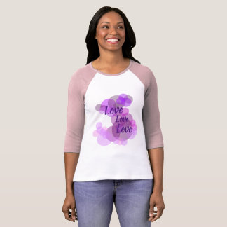 Purples & pinks circles with Love in a T-shirt