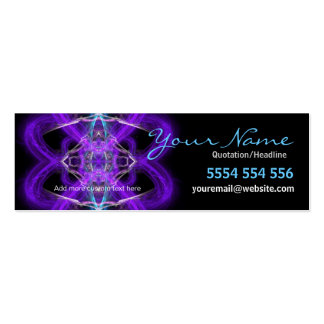 Purpliaz Hearts Profile Card Pack Of Skinny Business Cards
