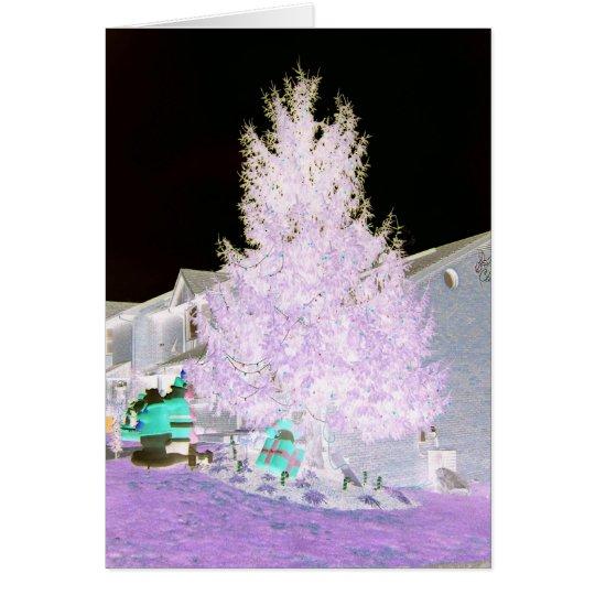 Purplish Glowing Christmas Tree Card