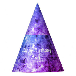 Purplish Personalized Party Hat
