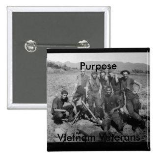 Purpose 15 Cm Square Badge