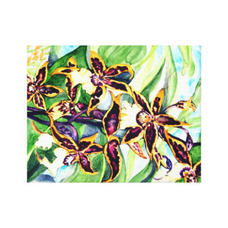 Purpple garden gallery wrapped canvas