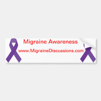 Purpple Ribbon Migraine Awareness Bumper Sticker