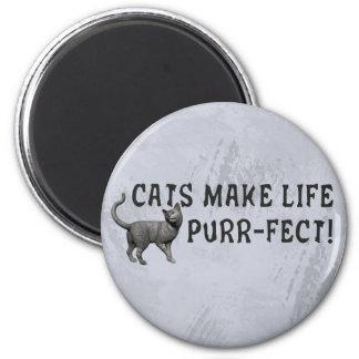 Purr-fect Life Refrigerator Magnet