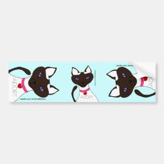 Purr-fect Moira ADOPT Aqua 3-way Bumper Sticker