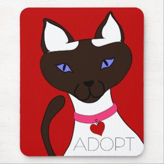 Purr-fect Moira ADOPT Red Mousepad